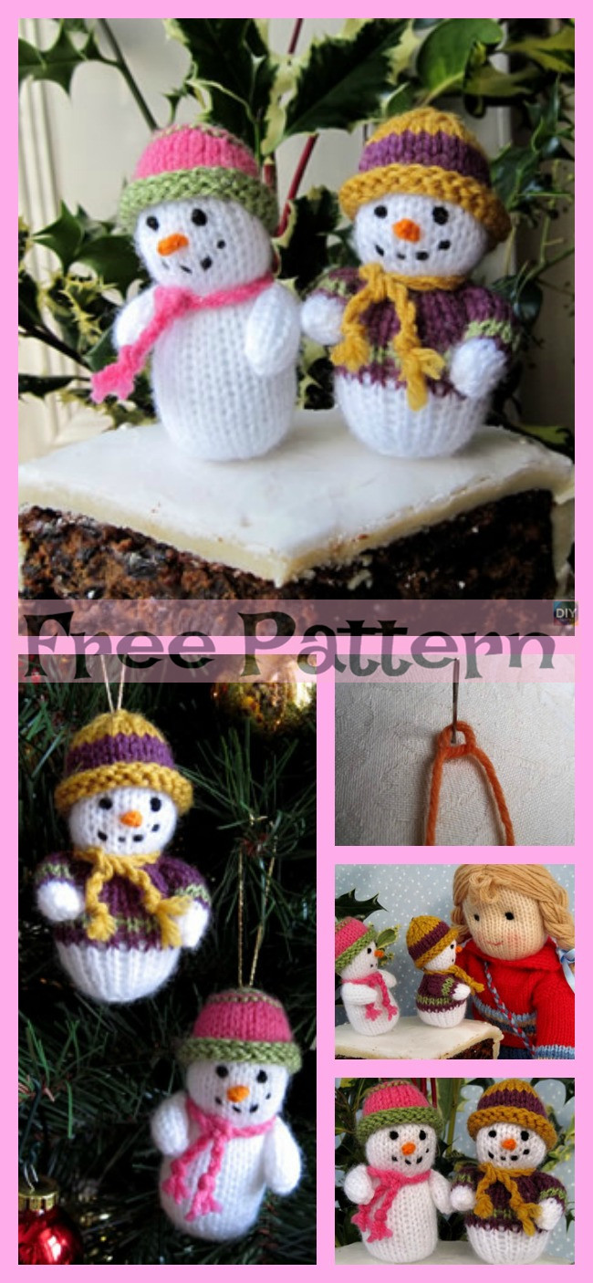 diy4ever-12 Cutest Knitted Snowman Free Patterns