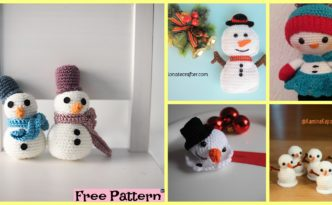 diy4ever-8 Crochet Cute Snowmen - Free Patterns