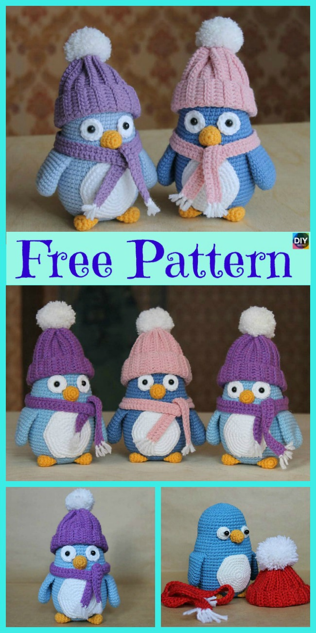 diy4ever-8 Crochet Penguin Softie - Free Patterns