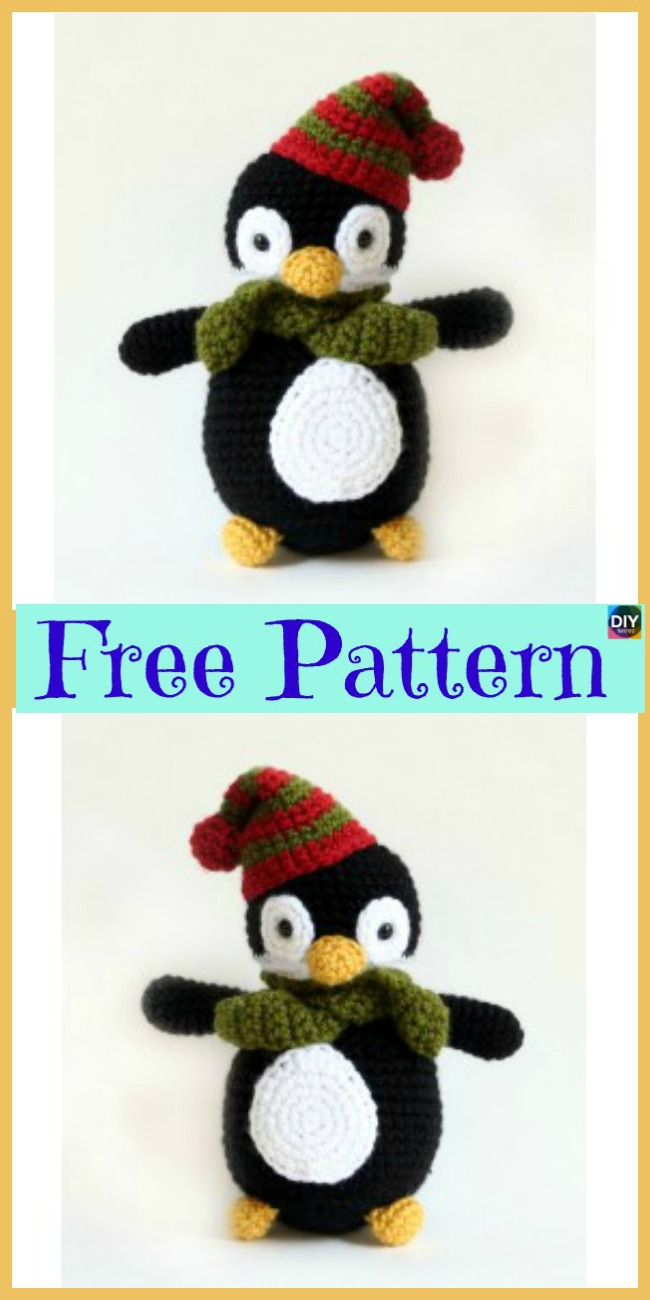 diy4ever-8 Crochet Penguin Softie - Free Patterns