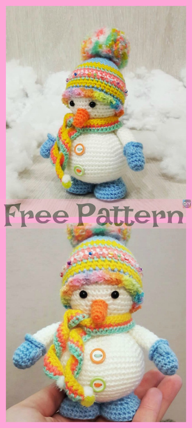 diy4ever-8 Crochet Snowman Amigurumi Free Patterns