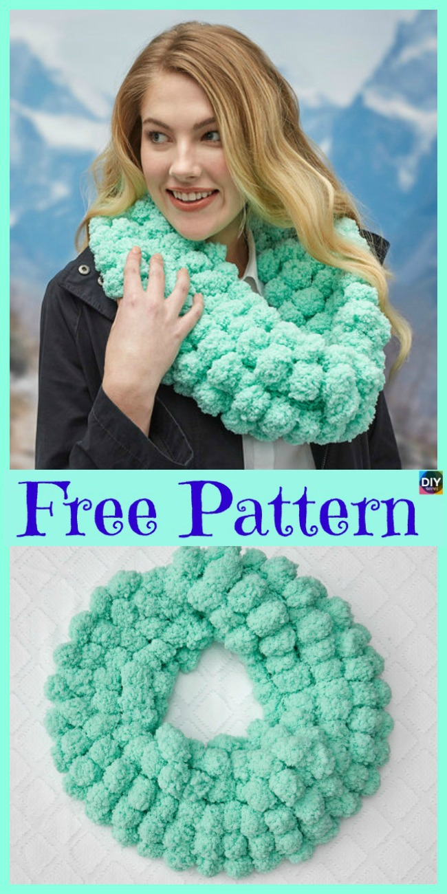 diy4ever-8 Knit Unique Cowls - Free Patterns