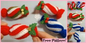 diy4ever-Crochet Christmas Candies - Free Pattern