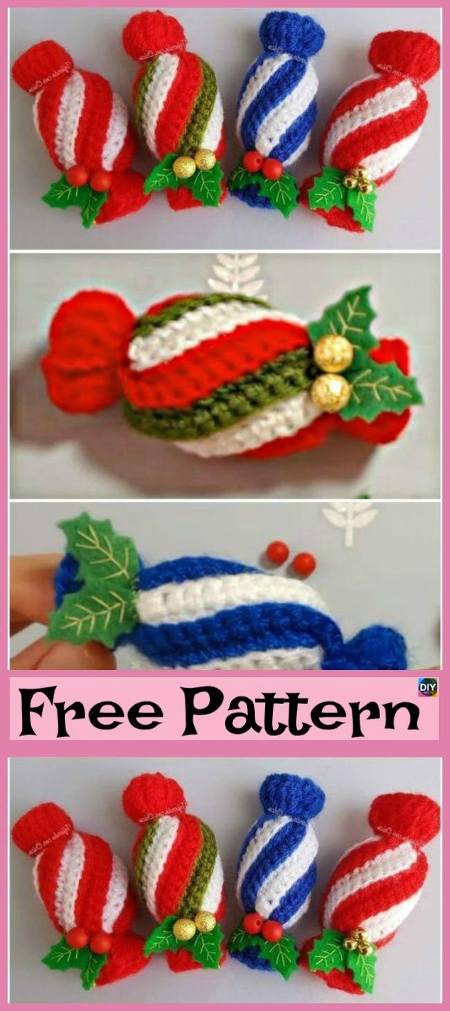 diy4ever-Crochet Christmas Candies - Free Pattern