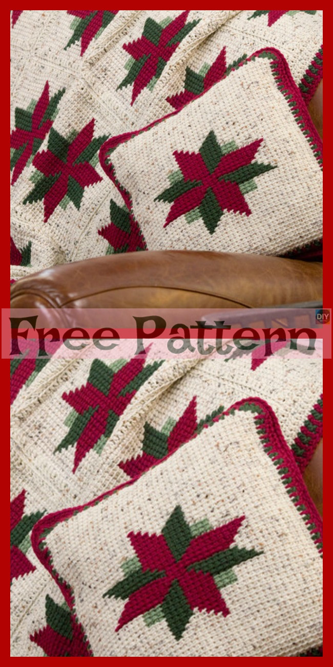 diy4ever-Crochet Christmas Gift Pillows - Free Patterns