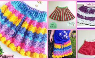 diy4ever-Crochet Pretty Skirt for Girl - Free Pattern