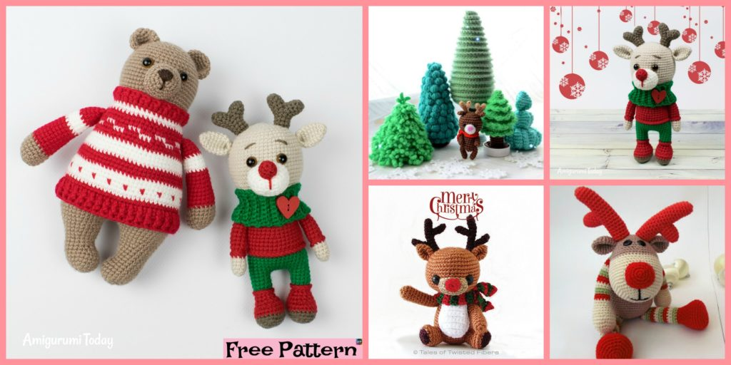 Cute Crochet Holiday Deer Free Patterns Diy 4 Ever
