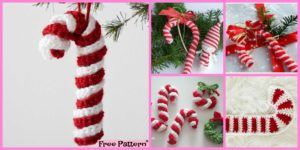 diy4ever-Easy Crochet Candy Canes - Free Pattern