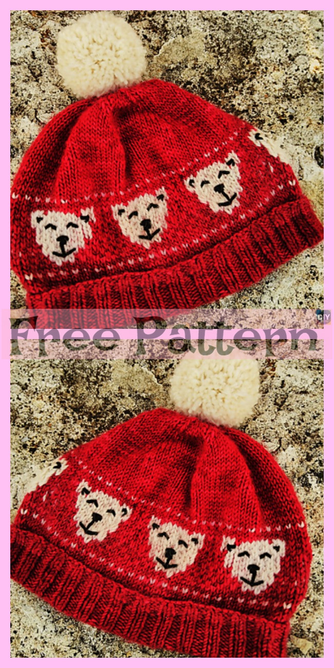 diy4ever-Knit Holiday Polar Bears - Free Patterns