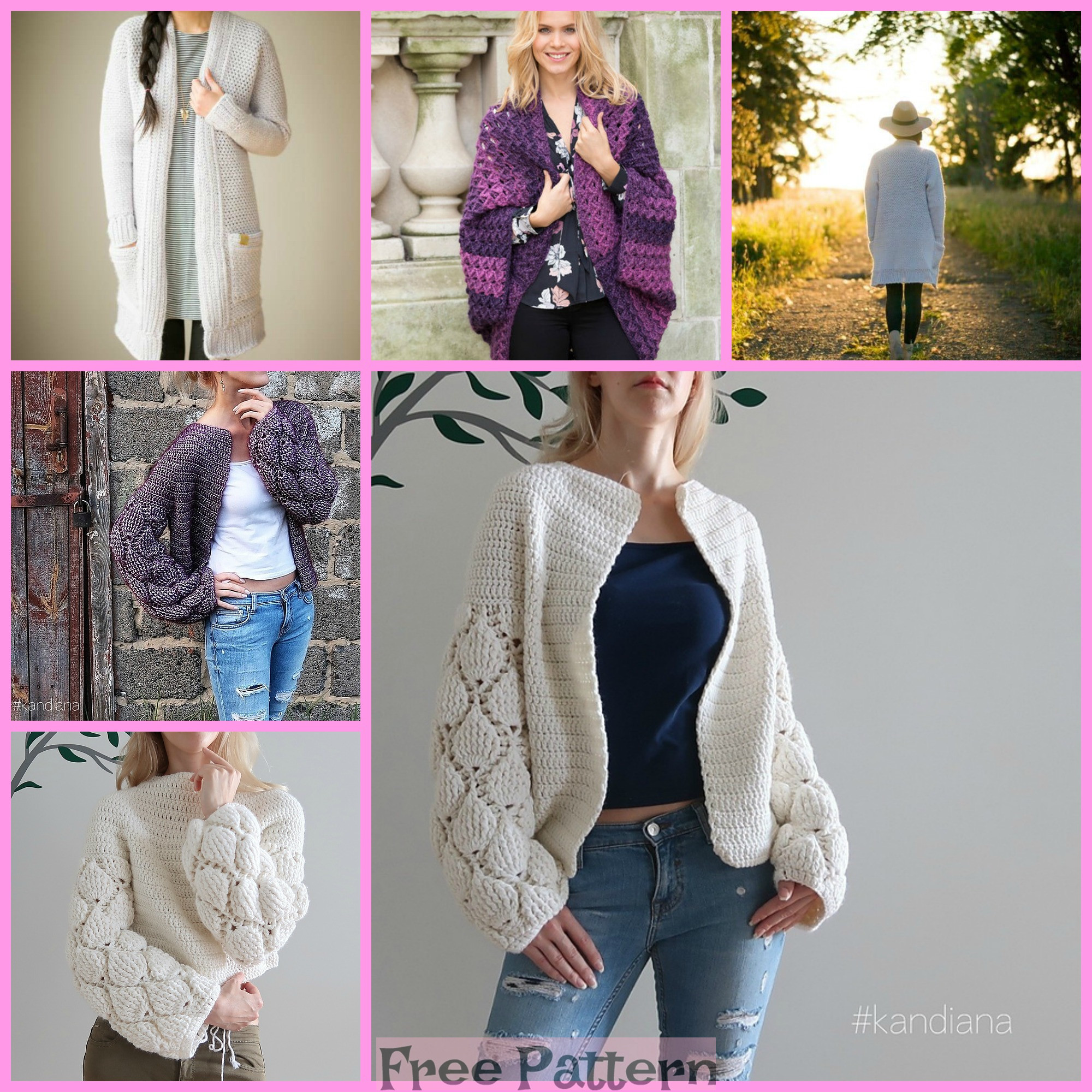 diy4ever-6 Crochet Unique Cardigan Free Patterns