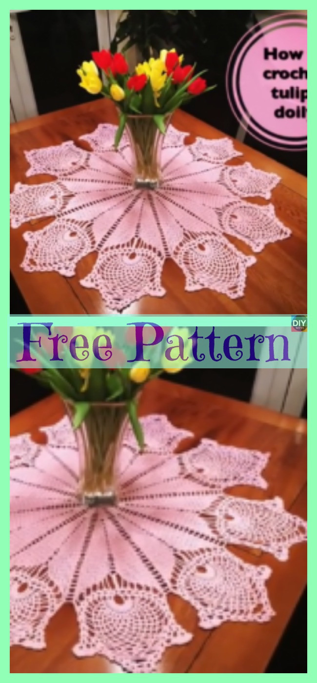 diy4ever -6 Pretty Crochet Lace Doilies - Free Patterns
