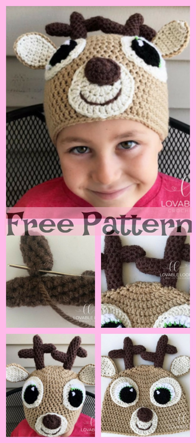 diy4ever-8 Adorable Crochet Animal Hats - Free Patterns