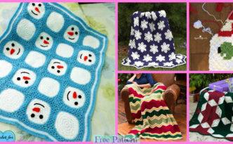 diy4ever-8 Crochet Christmas Blankets - Free Patterns
