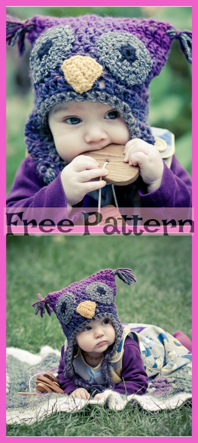 8 Crocheted Owl Hats - Free Patterns