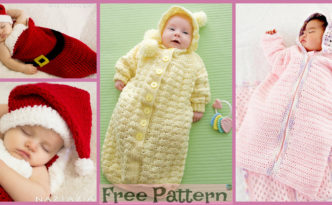 diy4ever-Cozy Baby Crochet Bunting - Free Pattern