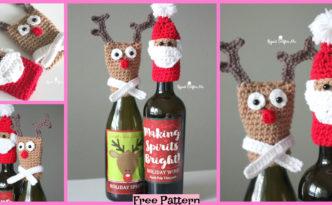 diy4ever-Crochet Bottle Toppers - Free Patterns