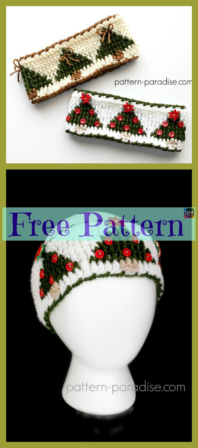 diy4ever-Crochet Christmas Tree Decoration - Free Patterns