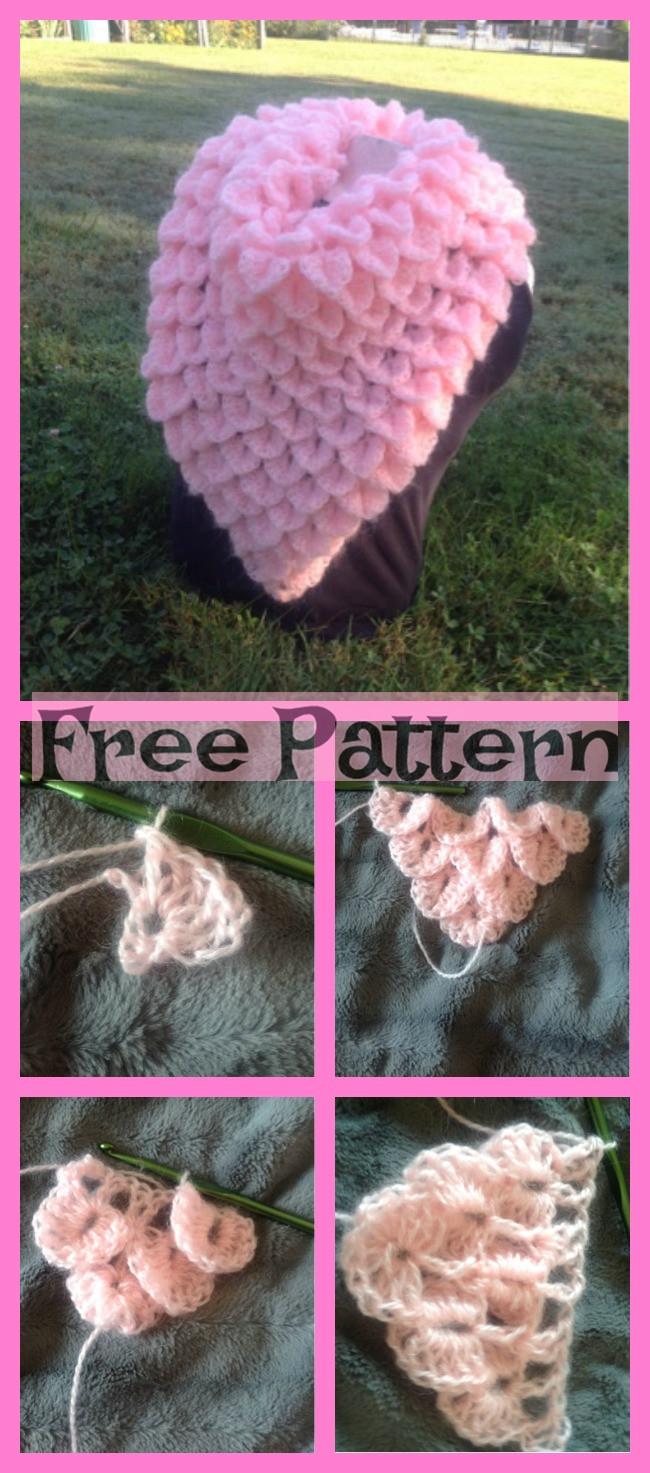 diy4ever-Crochet Crocodile Cowls - Free Patterns