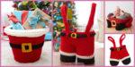 diy4ever-Crochet Santa's Gift Baskets - Free Patterns