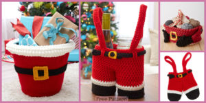 diy4ever-Crochet Santa's Gift Baskets - Free Patterns