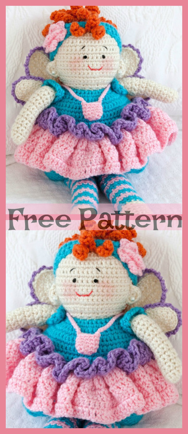 diy4ever-Crochet Tooth Fairy - Free Pattern