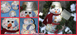 diy4ever-DIY Cutter Quilt Snowman - Free Pattern
