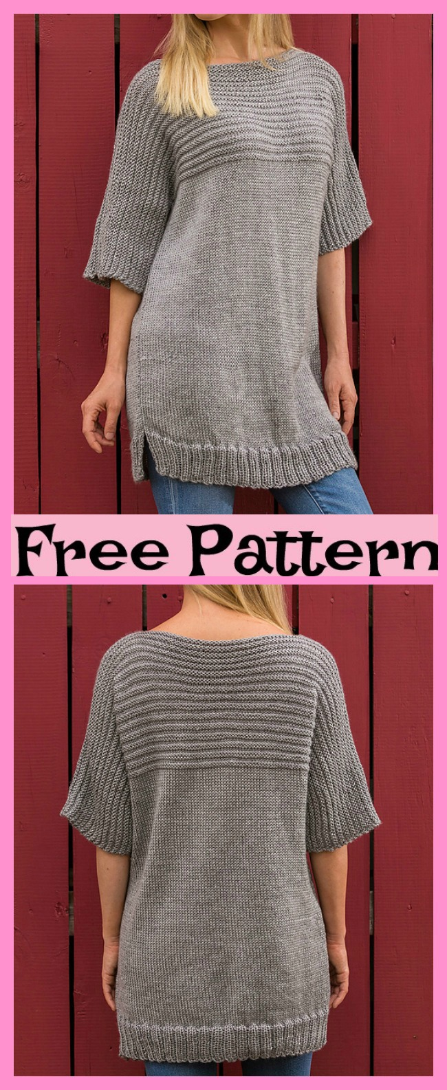 diy4ever-Knit Big Comfy Sweater - Free Pattern