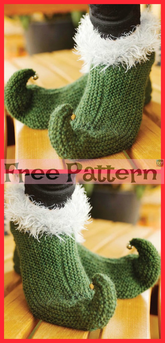 diy4ever-Knit Elf Shoes - Free Pattern