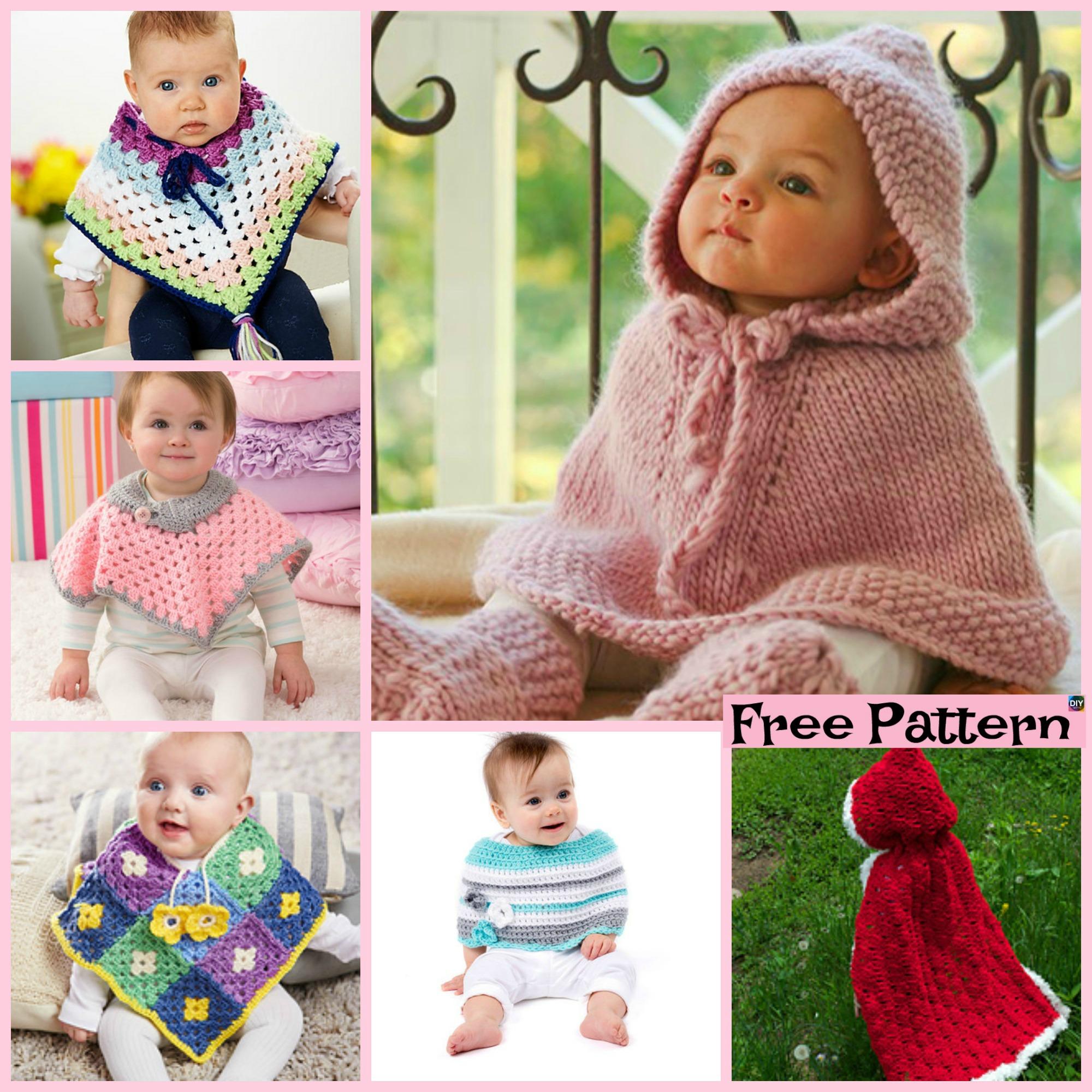 Crochet Baby Poncho - Free Pattern