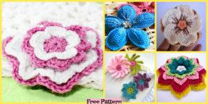 diy4ever-8 Beautiful Crochet Flowers - Free Patterns
