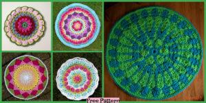 diy4ever-8 Crochet Mandala Rugs - Free Patterns