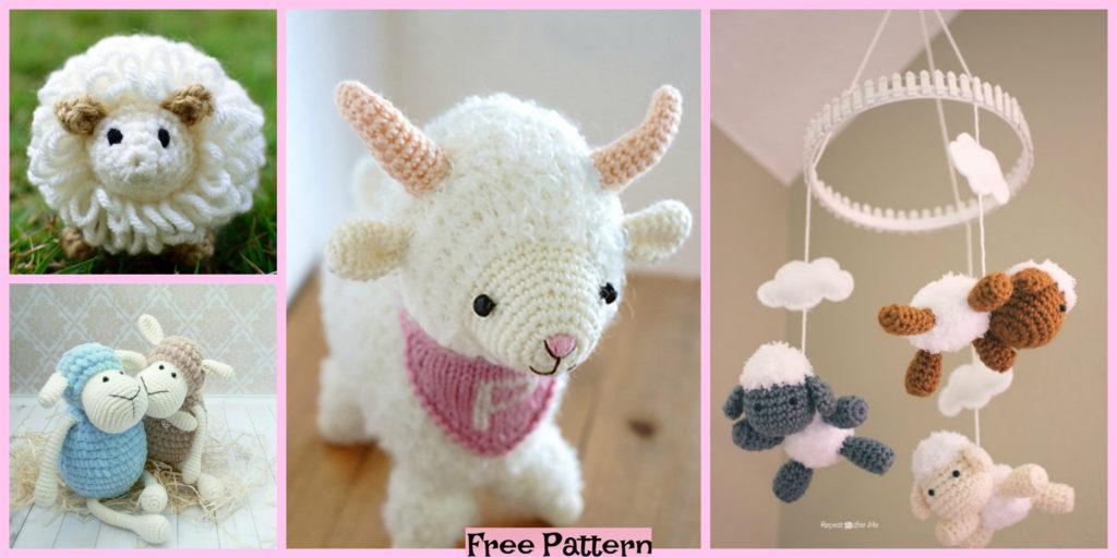 4b48a3666a88 8 Cutest Crochet Sheep Amigurumi Free Patterns - DIY 4 EVER