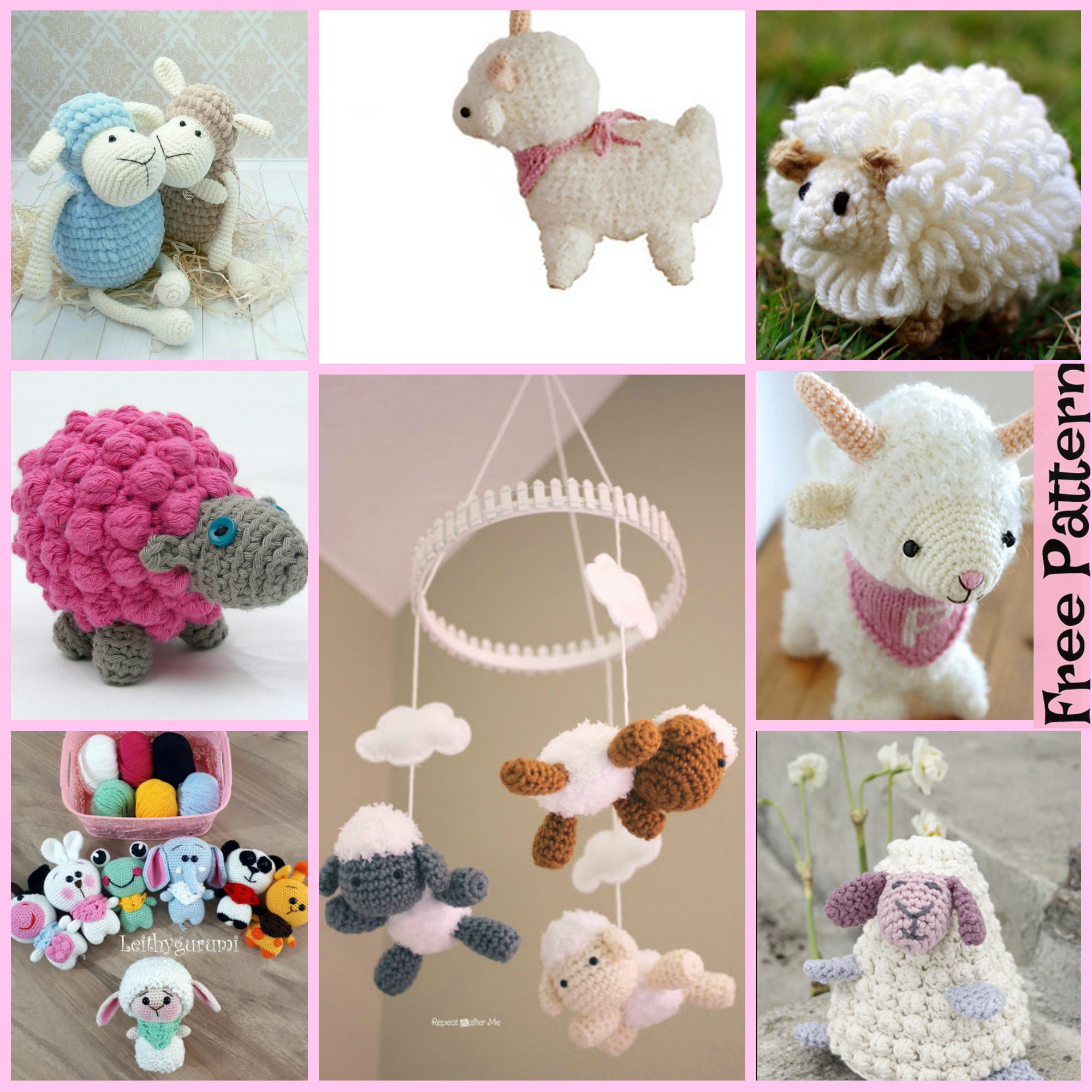 Amigurumi sheep plush toy pattern - Amigurumi Today | 2000x2000