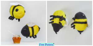 diy4ever-Adorable Knit Bumblebees - Free Pattern