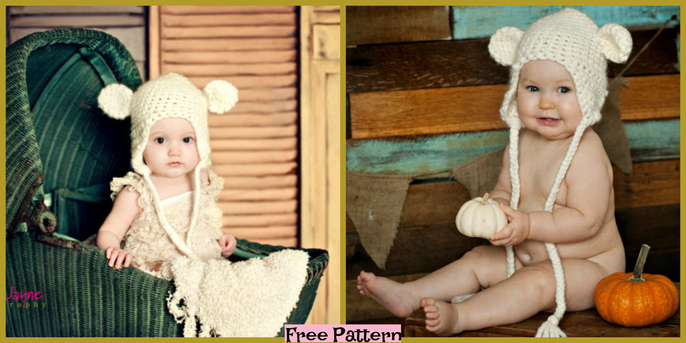 diy4ever-Crochet Bear Hat - Free Pattern