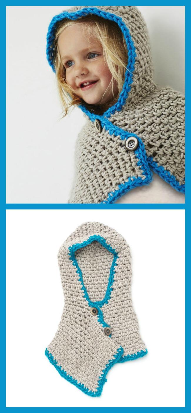 diy4ever-Crochet Bernat Hooded Cowl - Free Pattern