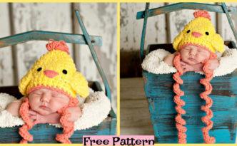 diy4ever-Crochet Chicken Hat - Free Pattern