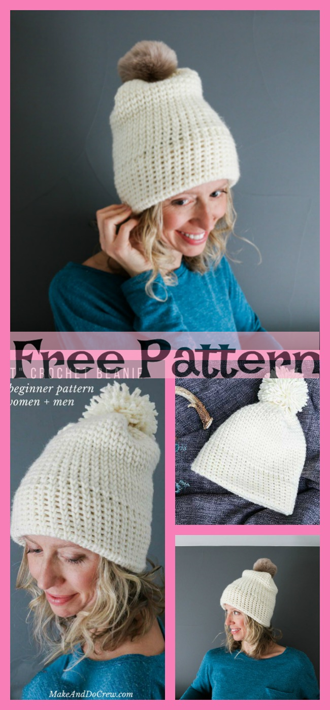 diy4ever-Crochet Easy Hats - Free Patterns