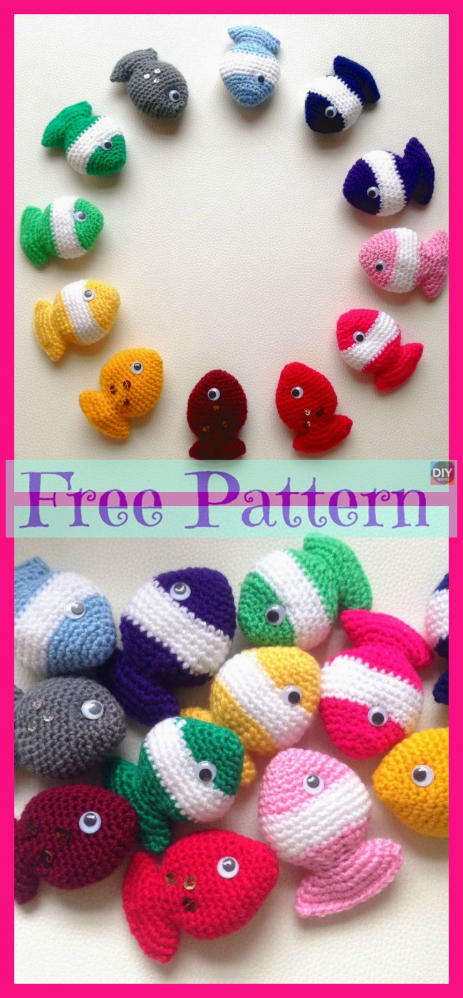 diy4ever-Crochet Fish Candy - Free Pattern