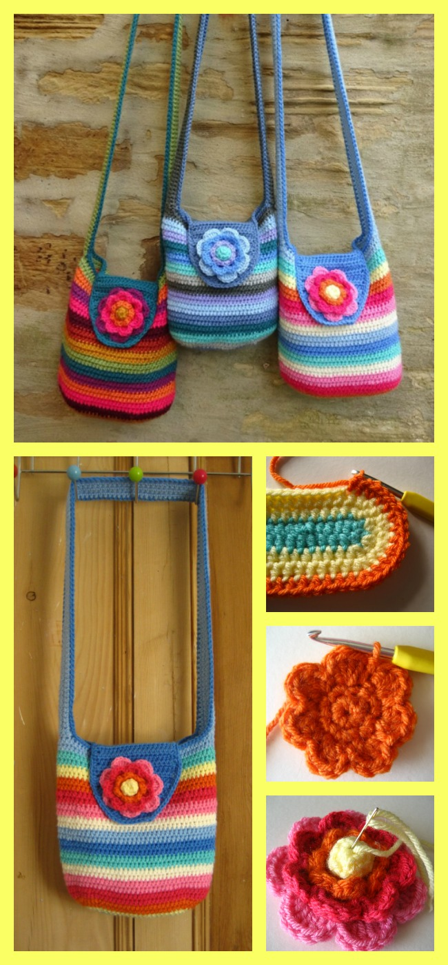 diy4ever-Crochet Flower Purse - Free Patterns