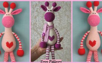 diy4ever-Crochet Hearty Giraffe Amigurumi - Free Pattern