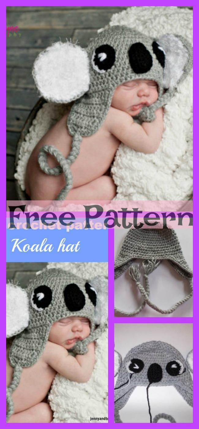 diy4ever-Crochet Koala Hat - Free Pattern