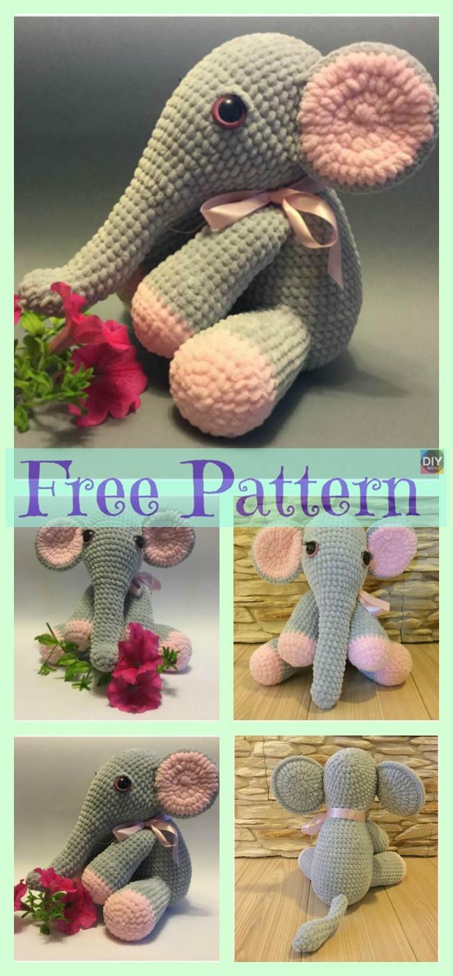 diy4ever-Crochet Lady Elephant - Free Pattern