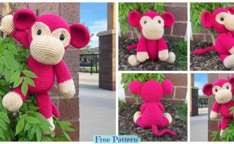 diy4ever-Crochet Mimi Monkey - Free Pattern
