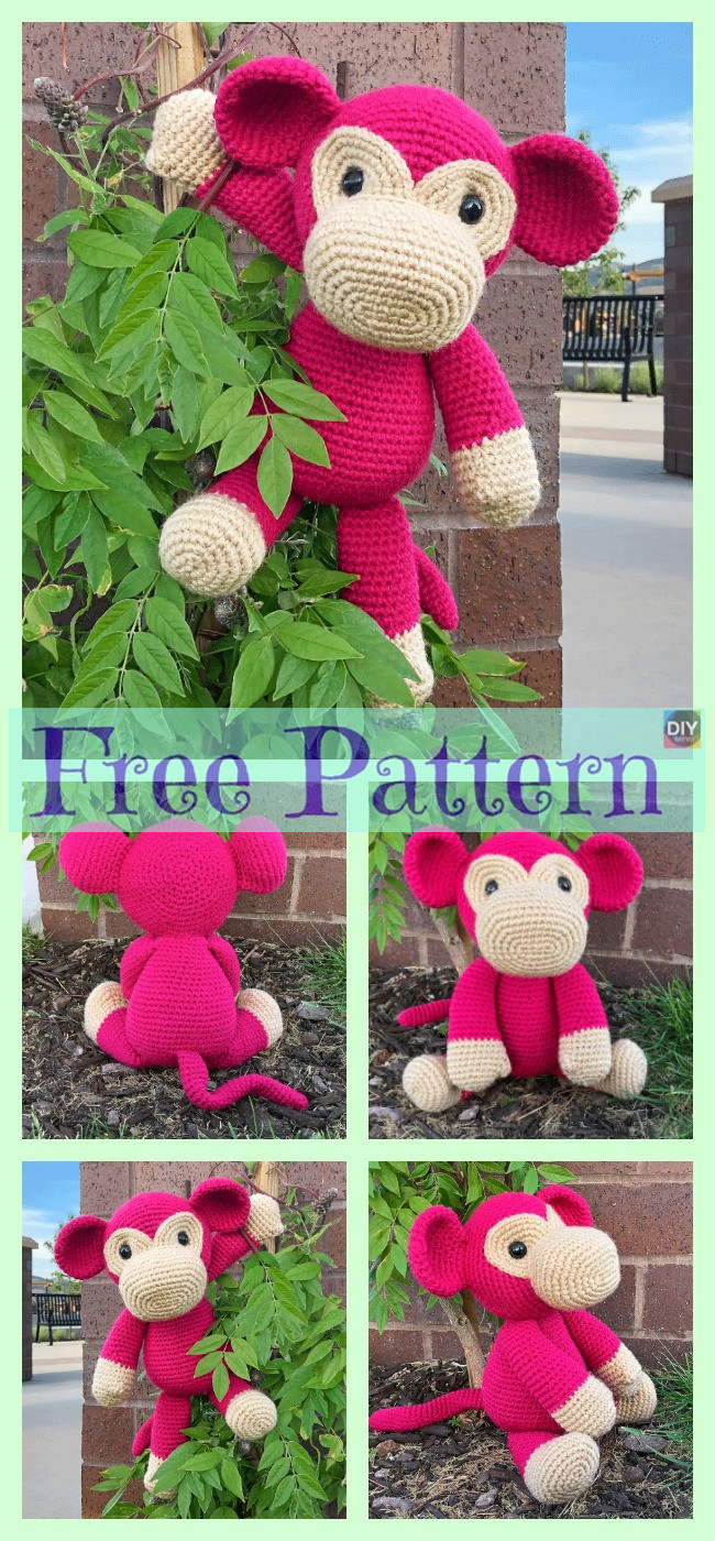 diy4ever-Crochet Mimi Monkey - Free Pattern