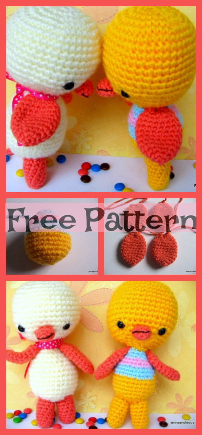 diy4ever-Crochet Two Little Ducky Amigurumi - Free Pattern