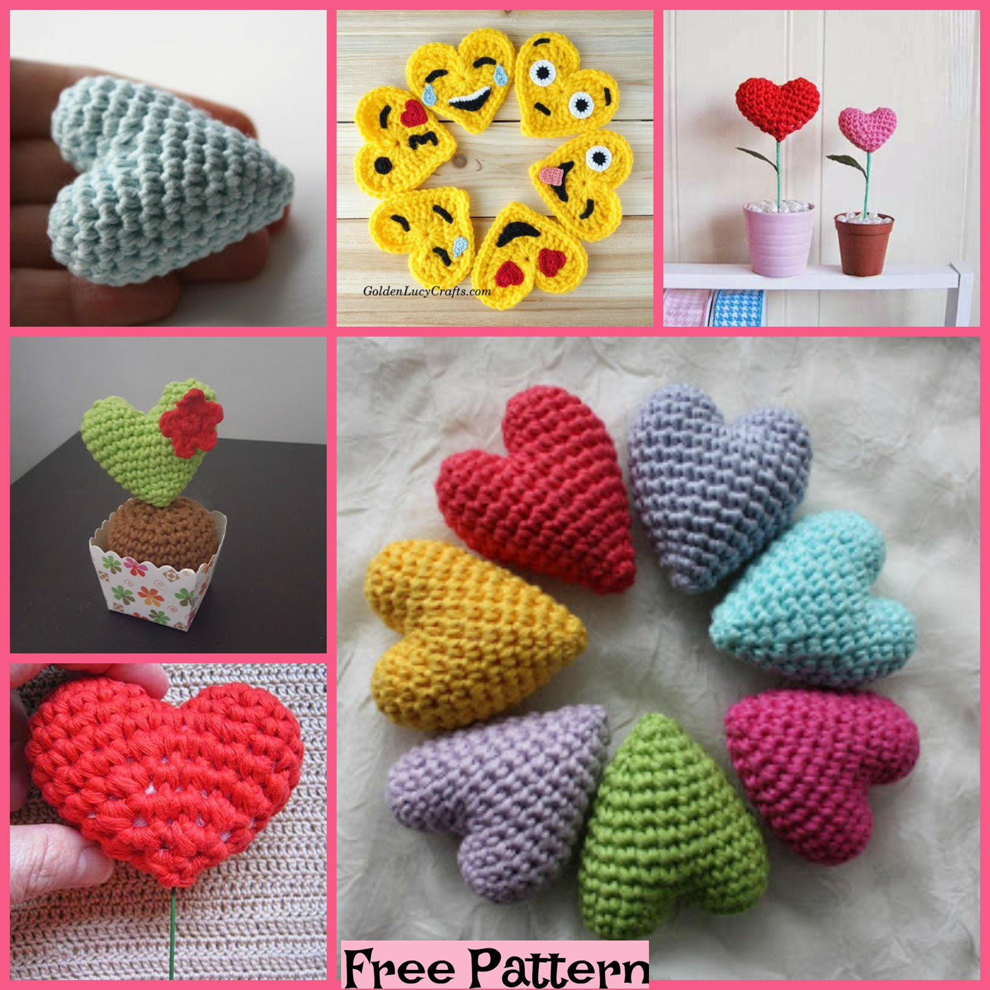 diy4ever-Crochet Valentine Heart - Free Patterns