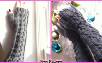 diy4ever-Knit Fingerless Gloves - Free Patterns