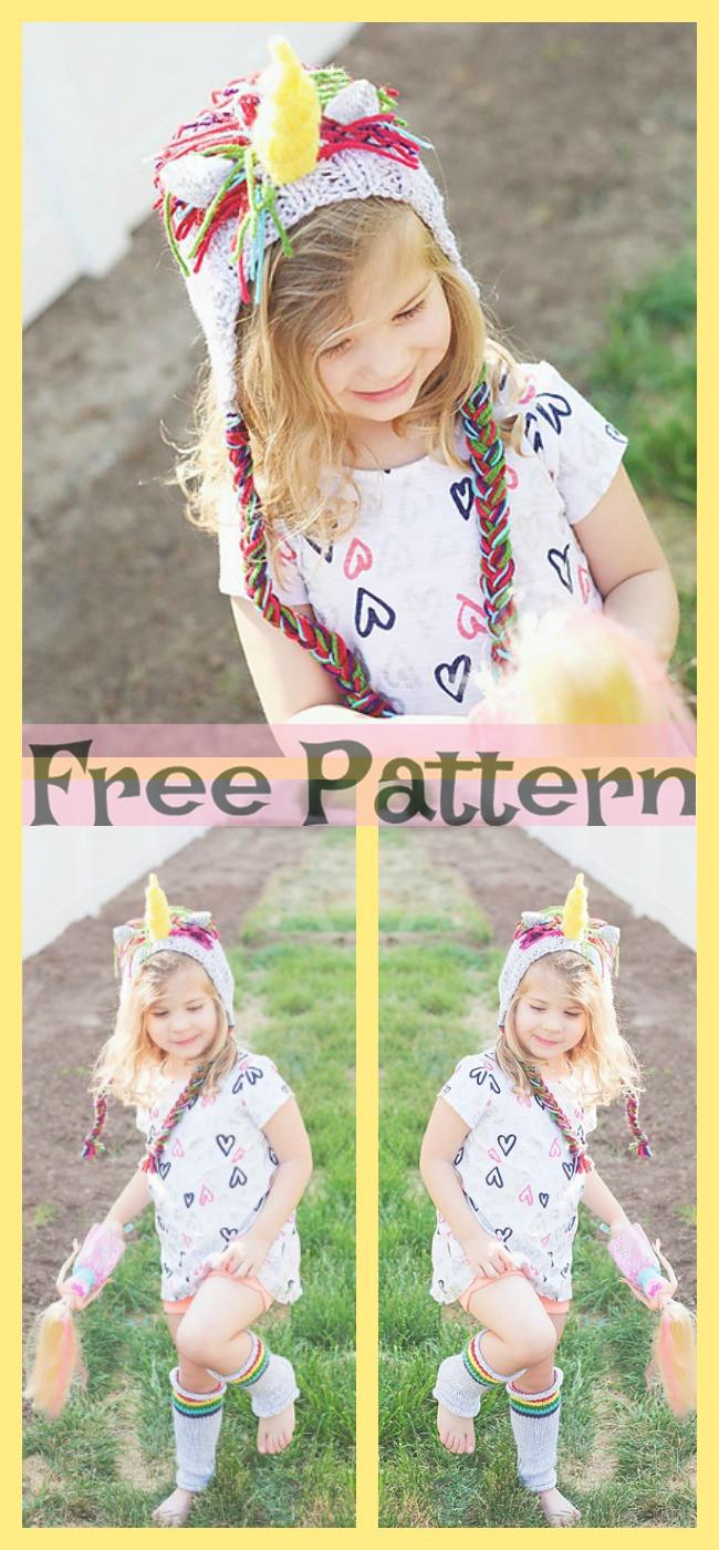 diy4ever-Knit Unicorn Hat - Free Pattern