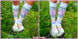 diy4ever-Knit Unicorn Socks - Free Pattern